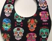 Day of the Dead Mexican Sugar Skull Baby Bib 238796563