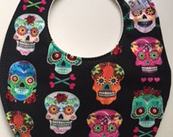 Day of the Dead Mexican Sugar Skull Baby Bib 238796563