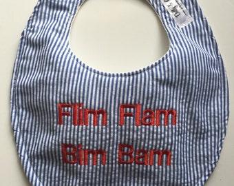 Ole Miss Hotty Toddy Flim Flam Bim Bam Baby Bib