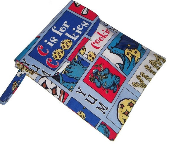 Baby cookie monster fabric sesame street diaper nappy and for Baby monster fabric