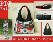 PDF Sewing Pattern to make Sharona Hobo Purse Bag INSTANT DOWNLOAD Fabric Leather Handbag minimalist bag Buy one tutorial and get one free