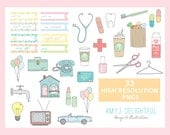 Reminder/Appointment CLIP ART SET for personal and commercial use bills, schedule, calendar, planning, filofax,