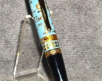 24kt Gold Sierra Twist Pen - Circuit Board Acrylic