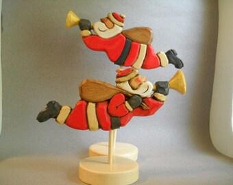 Flying Santa  Weather vane