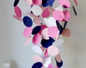Baby Mobile in Navy Blue Light Pink, Hot Pink, White, OR customized colors, paper mobile, match to your decor