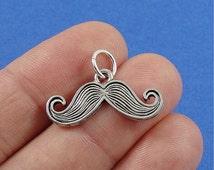 Mustache Charm - Silver Mustache Charm for Necklace or Bracelet