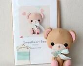 Treacle Sweetheart Bear Pattern Kit (PURE Felts)