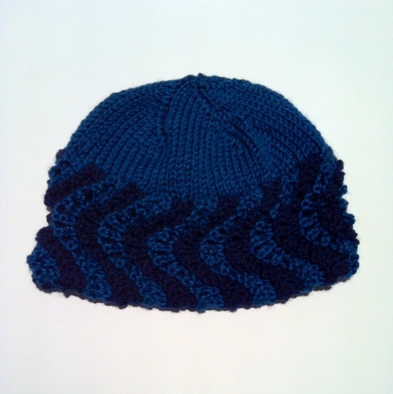 Wavy Brim Hat Knitting Pattern PDF Instant Download by lauraculham