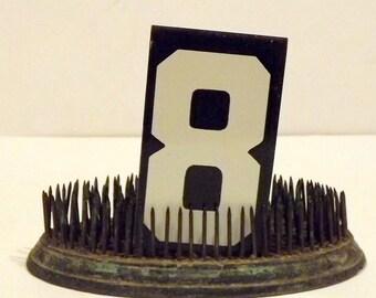 Metal Number 8 Black White Unitype Hanging Sign