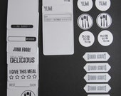 Project Life/Scrapbooking Food Related Journaling Cards and Embellishments
