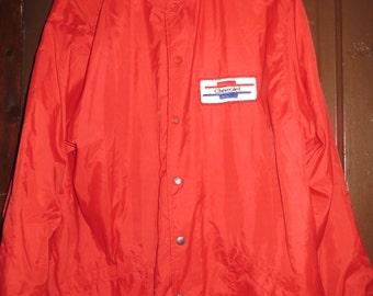 80S Red nylon Chevrolet windbreaker   jacket sz xlarge by HILTON