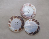 Button Mother of Pearl Carved very large 2 inch diameter