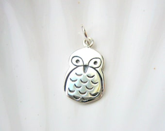 Sterling Silver Owl Charm - Add On - Bird