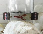Men's Preppy Leather Bracelet - Red Lobster