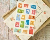 cute assorted Mini SPARKLY CARTOON sticker seals