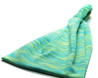 Workout Headband Green Yoga Headwrap Fitness Bandana Knit Fabric Headband Ear Warmer Head Wrap Green (#1213) S M L X
