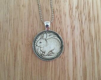 Bunny Bun Pendant Necklace