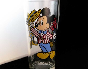 Vintage Mickey Mouse Collectors Glass Pepsi Walt Disney 1978