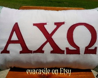 Alpha Chi Omega Sorority Appliqued Pillow (2015-21)