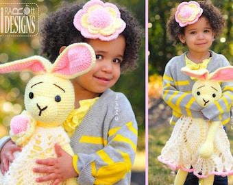 PATTERN Sunny the Hip Hop Bunny Toy and Headband Set Crochet PDF Pattern