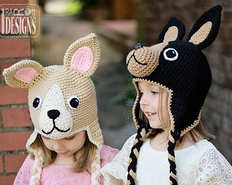 PATTERN Pixie and Maxi the Chihuahuas Crochet Hat Pattern in PDF