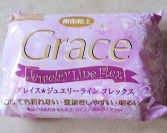 One packet of Grace Jewelry Line Flex  air drying clay. 200g. Translucent. Good for jewellery, bracelets and crafts.