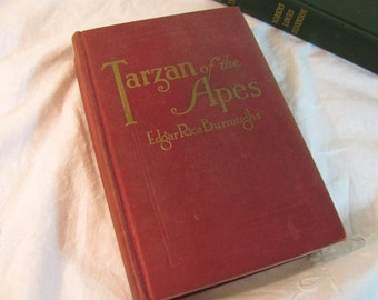 "Tarzan First Edition Book - 1914 ""Tarzan of the Apes"" by Edgar Rice Burroughs in Amazing Condition"
