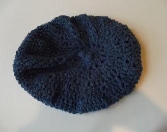 Blue Women's Beret Hat