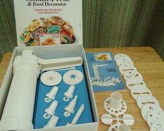 Vintage Hutzler Gerda Easy Action Cookie Press and Food Decorator