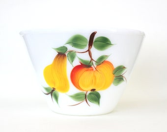 Fire King Fruits Large Nesting Bowl 1940s 1950s