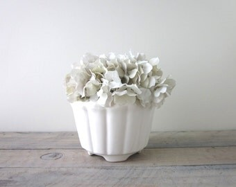 White Pottery Planter California Pottery