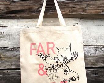 Far and Wide Moose tote bag