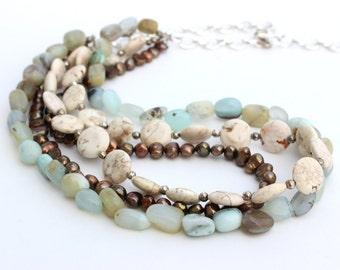 Multiple Strand Beach Necklace