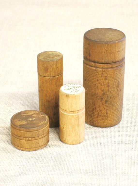Round wood box needle box fishing tackle small wood box for Circular wooden box