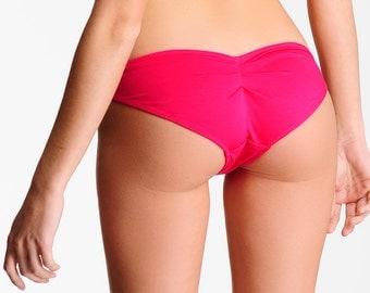 Cheeky Lingerie Bikini- Scrunch Bottom Panty - Pink