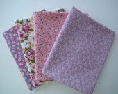 Custom fabric collection inspired by vintage quilt lilac and pink