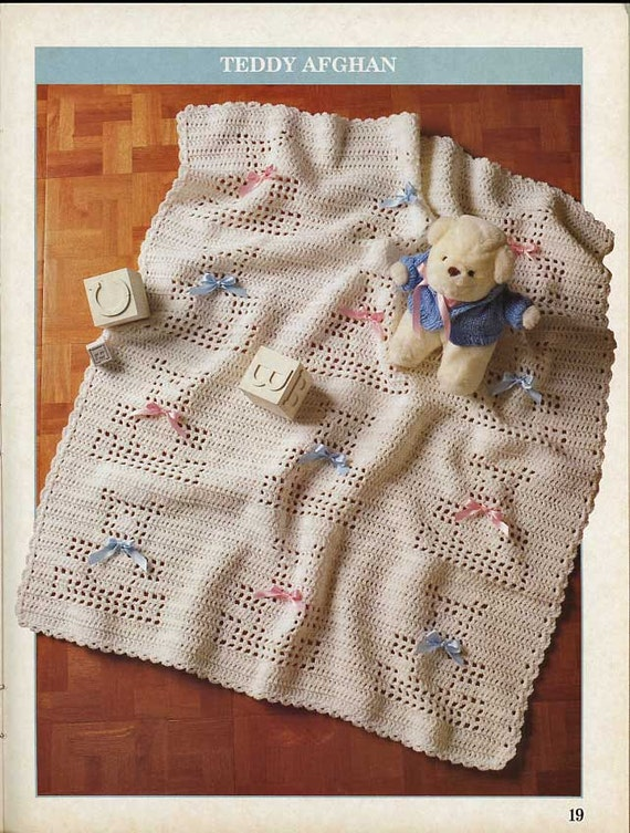 Crochet Pattern For Piano Afghan : Vintage Crochet Patterns Rose and Navajo Afghans Kittens Piano