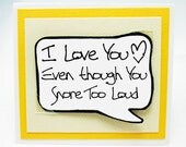 Funny Valentines Guy Card. Yellow Speech Bubble Magnet Card. Cute Boyfriend Valentine Card. MN109