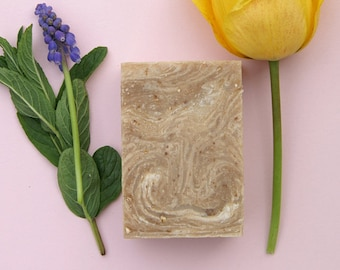 Oatmeal Coconut Milk and Honey Cold Press Soap