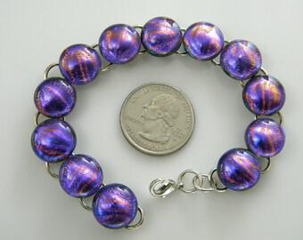 bracelet Dichroic BRACELET fused glass handmade SYE22