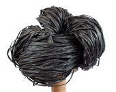 Black Paper Raffia - Paper Ribbon: 260 yards (240m) - Fiber Arts, Knit, DIY, Gift Wrapping, Weave, etc. - Handwash