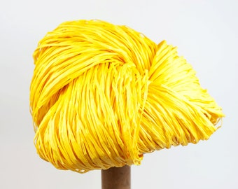 Yellow Paper Raffia - Paper Ribbon: 260 yards (240m) - Fiber Arts, Knit, DIY, Gift Wrapping, Weave, etc. - Handwash