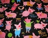 Fabric . Remnants . Destash . Cotton . Robert Kaufman . Oink . Little Piggies