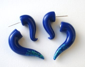 Glitter Tipped  Fake Gauge Earring-