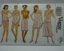 "Vogue Sewing Pattern 9765, Slip, Camisole, Teddy, Half-Slip & Panties, Misses' Size L, XL (16-22), Bust: 38""-46"", Uncut"