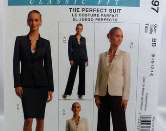 McCall's 5597, Misses' Jacket, Skirt and Pants Pattern, Sewing Pattern, Palmer Pletsch, Classic Fit, Misses Size 8 to 14, Uncut