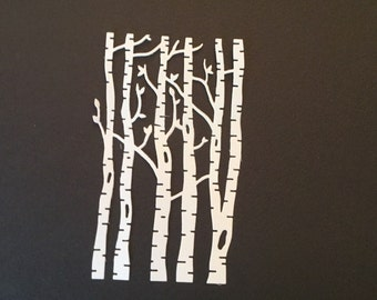 Nice Birch Tree Die Cuts - Set of 3