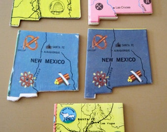 NEW MEXICO Vintage puzzle pieces- set of 5