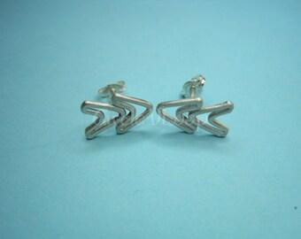 double arrows sterling silver stud earrings