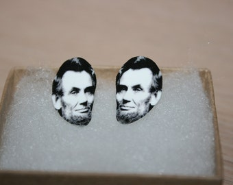 Abraham Abe Lincoln Post Stud Earrings Political Jewelry President